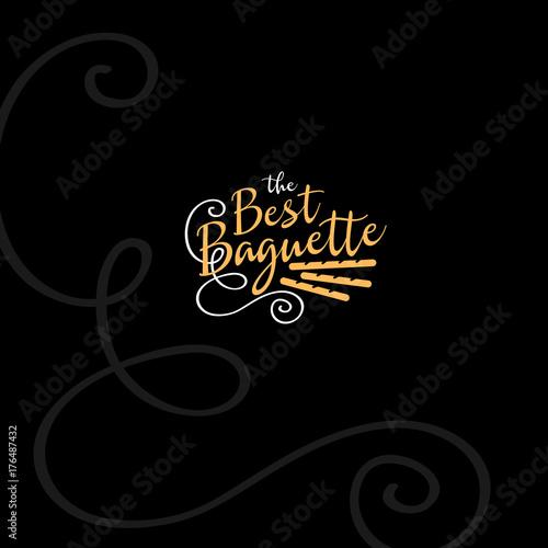 Bakery logo. Fresh baguette. Vintage logo.
