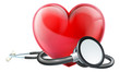 Heart and Stethoscope Concept