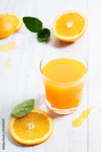 Foto op Plexiglas Sap orange juice