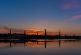 Riga at sunset - 176493048