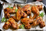 Baked chicken wings - 176496455