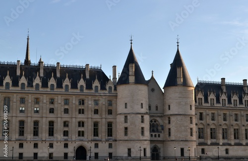 The Conciergerie, famous building in Paris, medieval prison and actually used for law courts