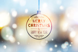 blurred christmas background - 176499411