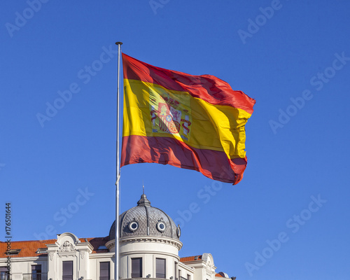 Deurstickers Barcelona Spanish flag