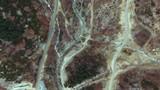 Overhead aerial shot of rocky terrain. - 176503009