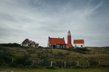 Landscape with lighthouse building