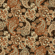 Seamless Paisley pattern in indian style. Floral vector illustration - 176506855