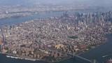 A daytime aerial establishing shot of the island of Manhattan. Part 2 of 2.   - 176513287