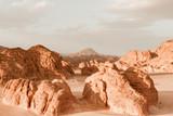 Desert landscape background global warming concept - 176514004