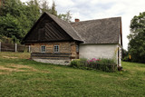 Wooden timbered and walled village building - 176515855