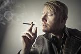 Dandy smoking a cigarette - 176516416