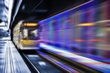 Inside view of Motion blurred underground - 176517482