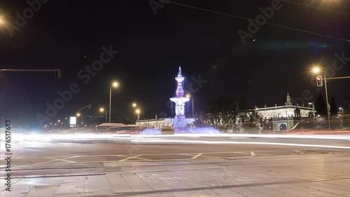 Timelapse of Plaza Don Juan de Austria by night