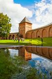 Palace tower of Novgorod Kremlin. Architecture landscape in Veliky Novgorod, Russia - 176518460