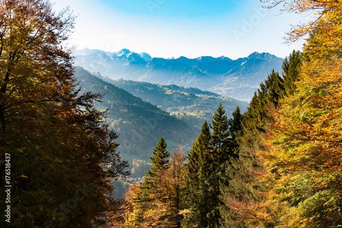 Tuinposter Canyon Viktorsberg, Vorarlberg, Aussichten