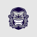 Gorilla head vector, monkey head vector, ape face logo  - 176520211