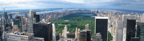 Aerial panorama of New York City and Central Park. - 176524246