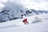 winter skier  - 176524614