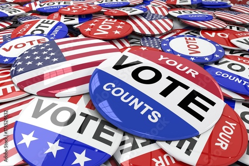 Poster Composite image of vote button