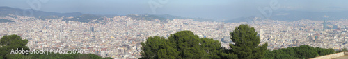 Aerial panorama image of Barcelona, Spain. - 176525696