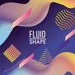 abstract fluid decoration backgroun design - 176527606