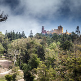 Square summer landscape with Pena Palace - 176535452