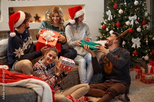 Giving gifts at Christmas