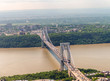 Helicopter view of George Washington Bridge in New York City