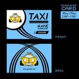 taxi business card - 176542637