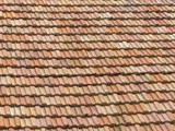 Roof of red shingles - 176551274