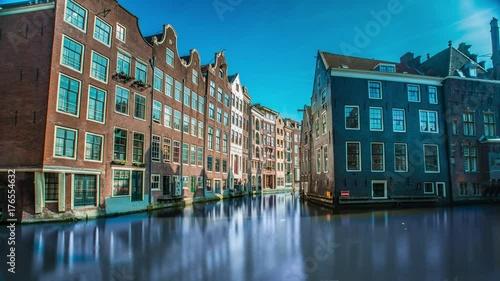 Foto op Plexiglas Havana City life and canals in Amsterdam