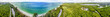 Quadro Naples, Florida. Panoramic aerial view of wonderful beach and park