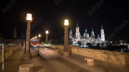 Timelapse of the Stone Bridge at night