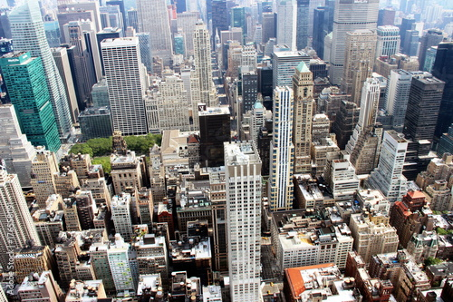 Foto op Aluminium New York The roof of the big Apple took from the Empire state building NY, 2014.