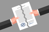 Torn document. Cancellation of contract or agreement - 176559483