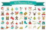 Weihnachten Icons Symbole Vektor Set - 176571866