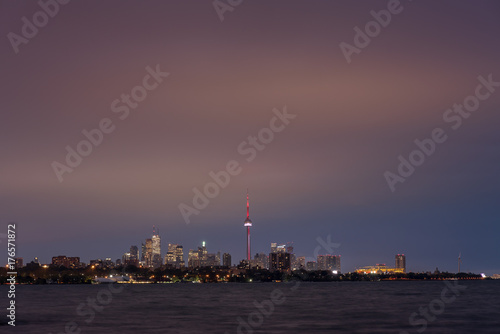 Toronto skyline from Humber Bay Poster