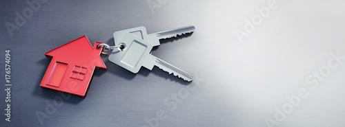 Schlüssel mit rotem Hausanhänger