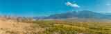 Panorama photo of beautiful Leh city