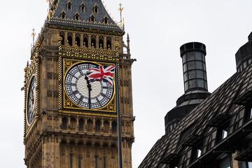 Big Ben with Flag of United Kingdom