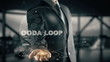 OODA loop with hologram businessman concept