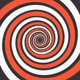 Spiral background. Optical illusion. Vector illustration - 176593605