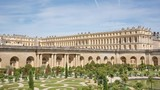 The Royal Palace in Versailles garden view, tilting video - 176595087