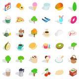 Hot drink icons set, isometric style - 176598050
