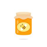 Jar of honey icon vector - 176598810