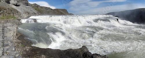 Gullfoss waterfalls are a landmark of Iceland.