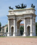Monumental architecture of Milan, Italy. - 176601214