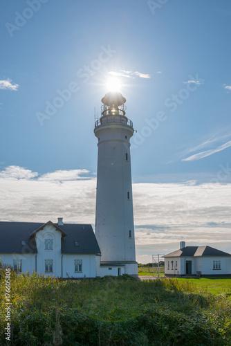 Fotobehang Vuurtoren lighthouse hirtshals
