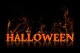 Halloween lettering english german - 176606408