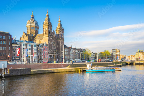 The Basilica of St. Nicholas in Amsterdam city, Netherlands Poster